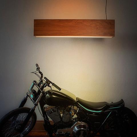 Wood Light Three Pendant by John Beck Steel