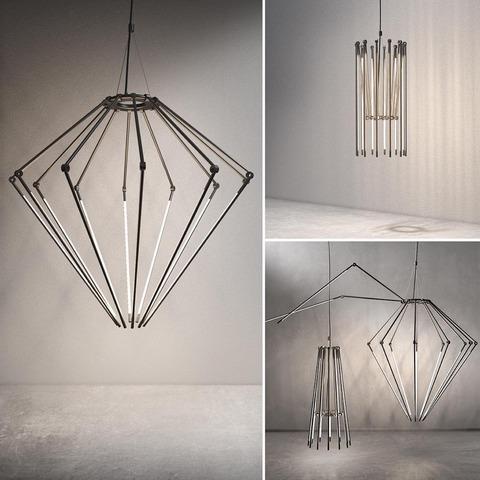 Thin chandelier by juniper